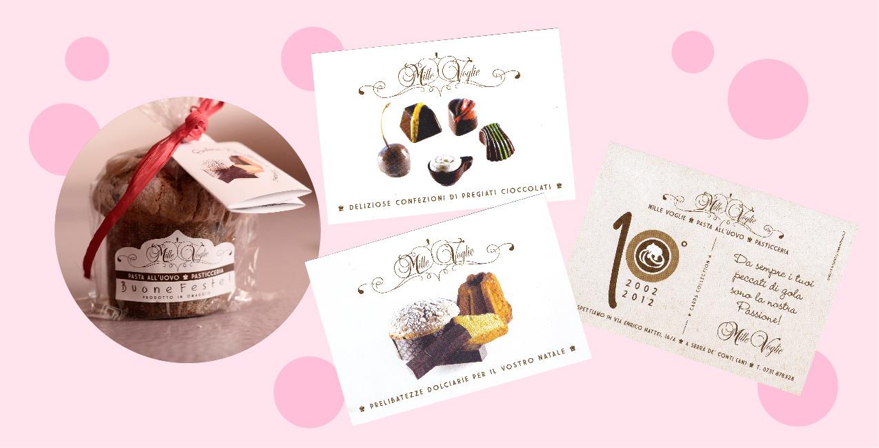 Millevoglie _ Packaging + Collection Postcards
